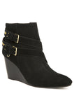 Paden Wedge Booties - Black