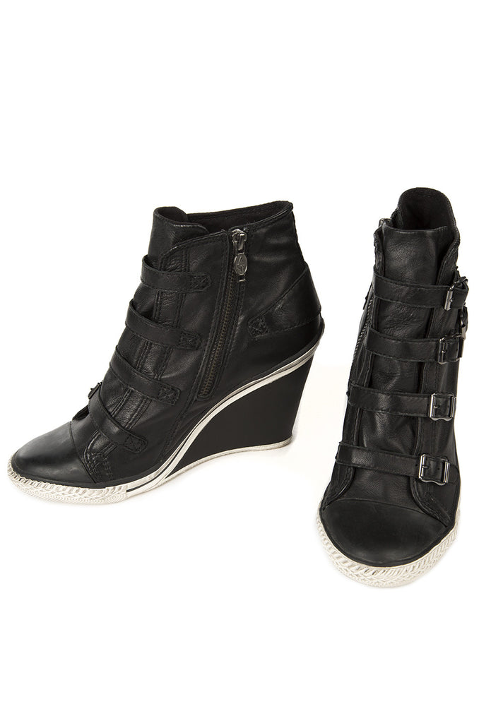 Thelma Wedge Sneaker - All Black