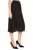 Lisa Pleated Midi Skirt