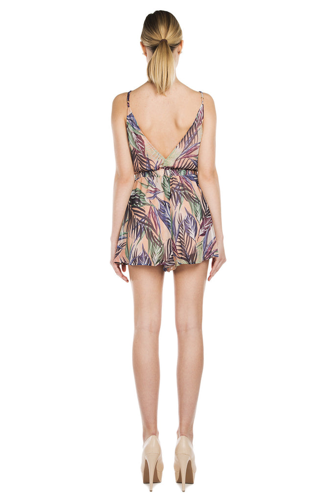 Olympia Romper - Palm Funday