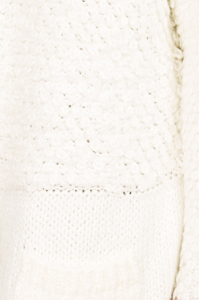 Boucle Knit Cardigan Sweater