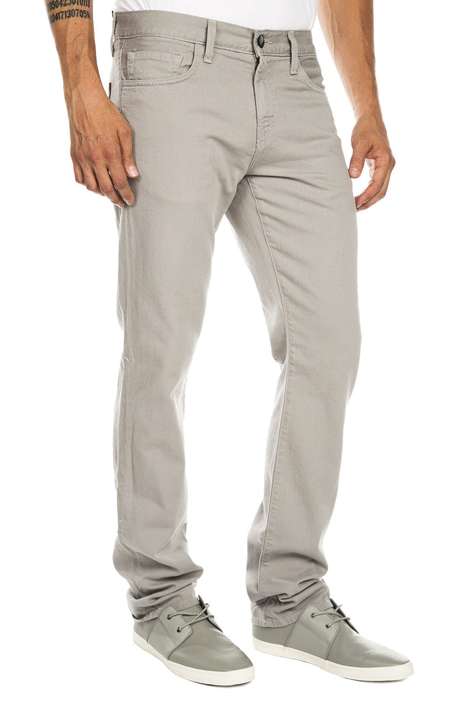 Kane Straight Fit Twill Pants - Powder Grey