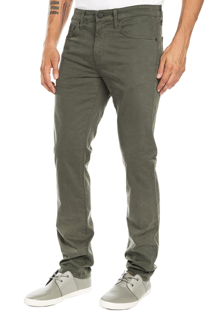 Kane Straight Fit Twill Pants - Light Army