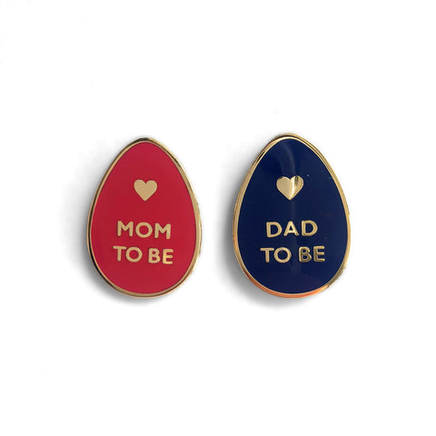 Mom & Dad-To-Be pin set
