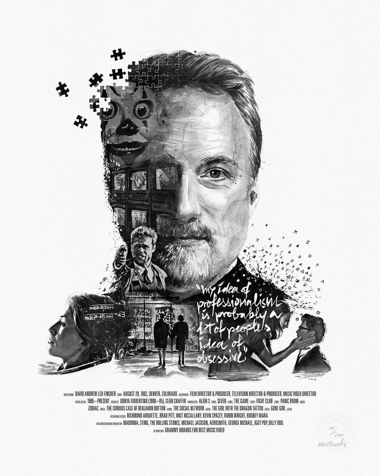 Movie Director Portrait, David Fincher