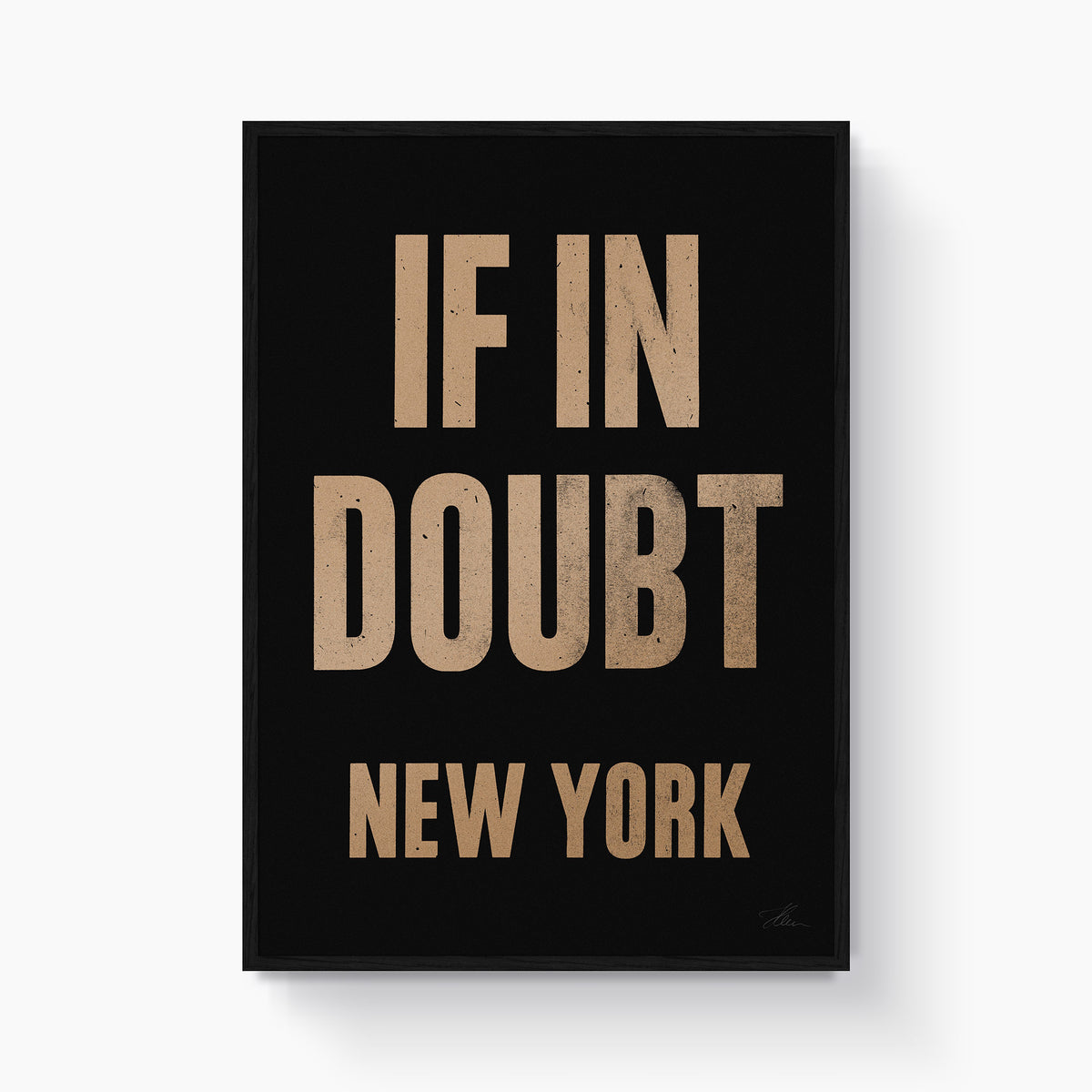 If in doubt.. NEW YORK (Gold/Black)