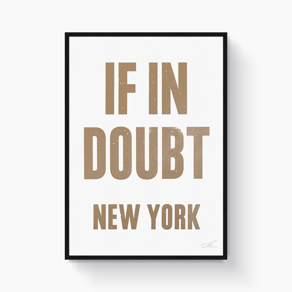If in doubt.. NEW YORK (Gold/White)