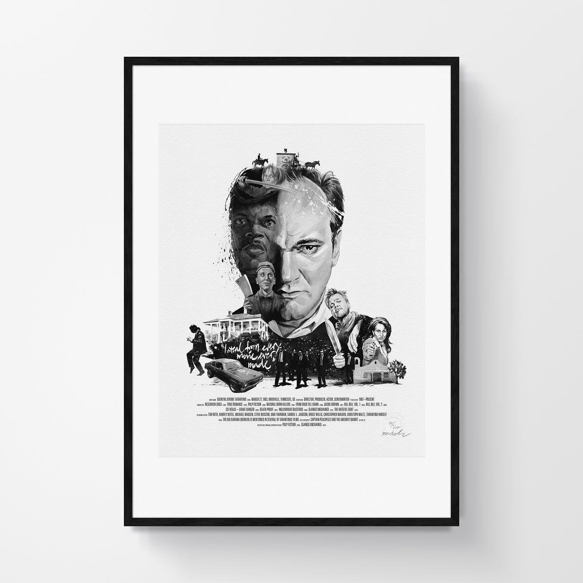 Movie Director Portrait, Quentin Tarantino