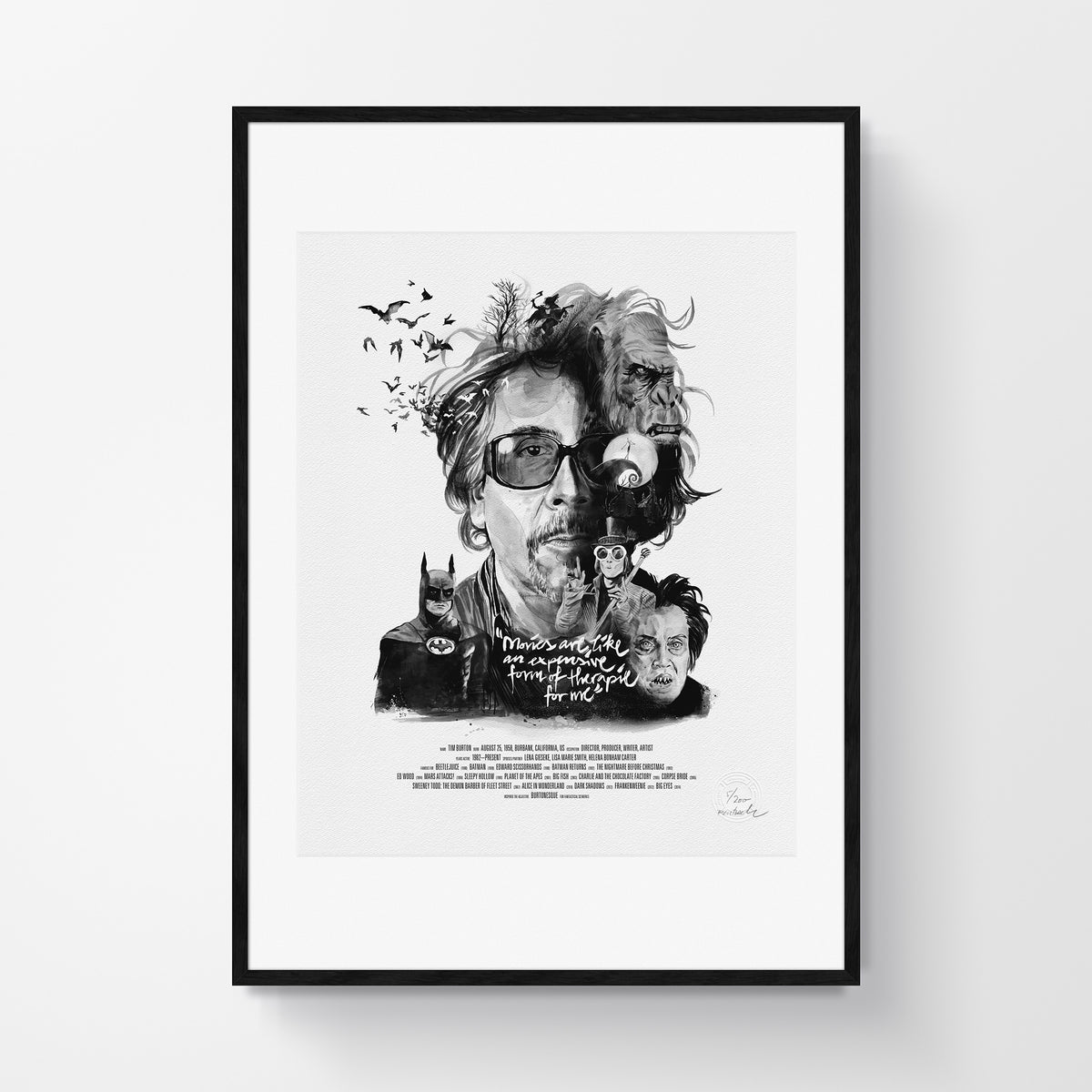 Movie Director Portrait, Tim Burton
