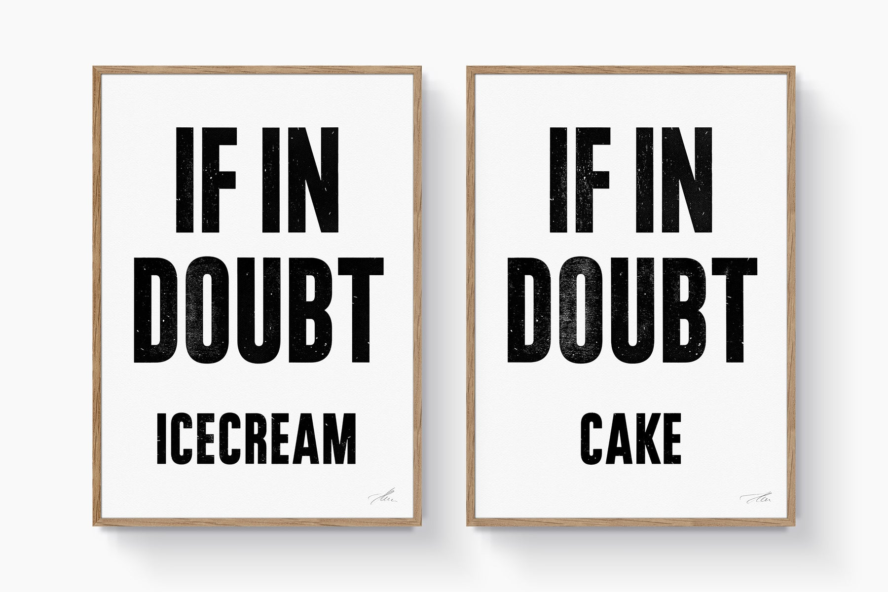 If in doubt.. ICECREAM (Black/White)