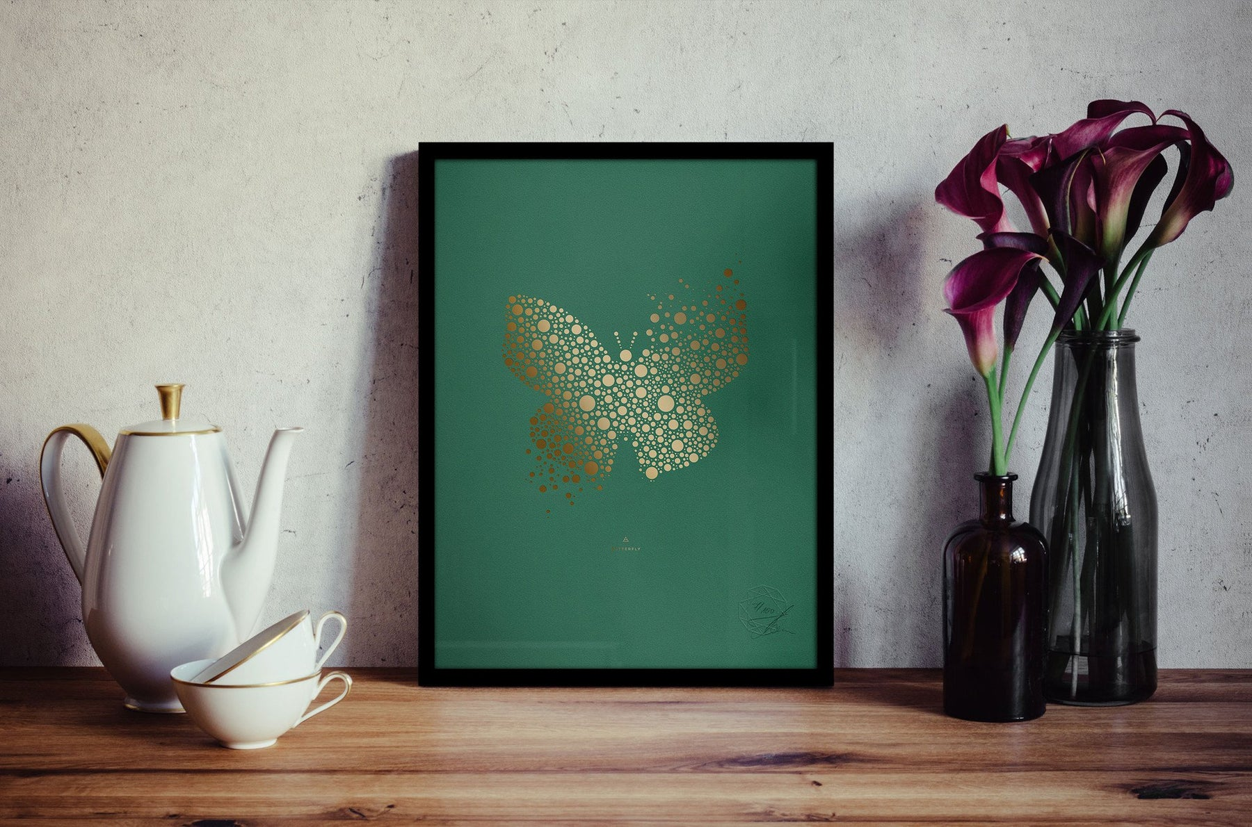Butterfly No. I, Gold Hotfoil Print