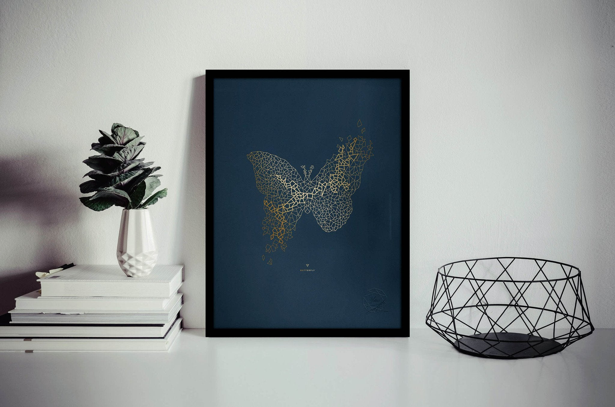 Butterfly No. II, Gold Hotfoil Print