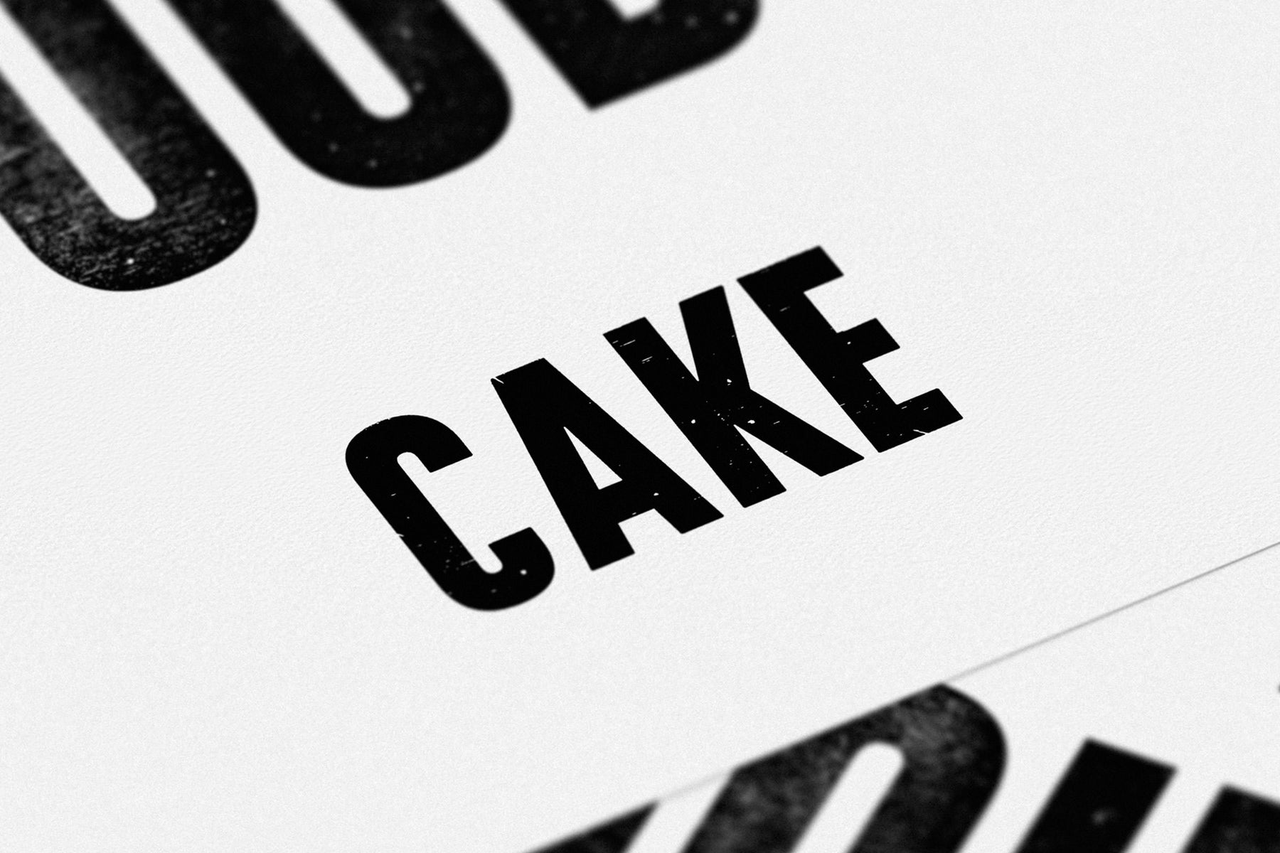 If in doubt.. CAKE (Black/White)