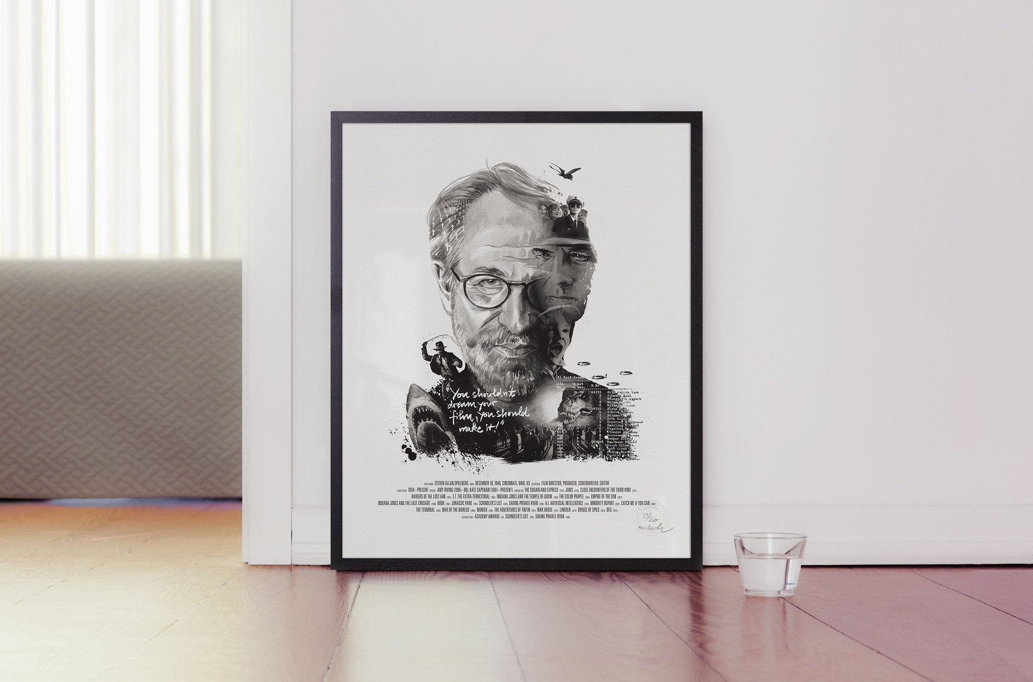 Movie Director Portrait, Steven Spielberg