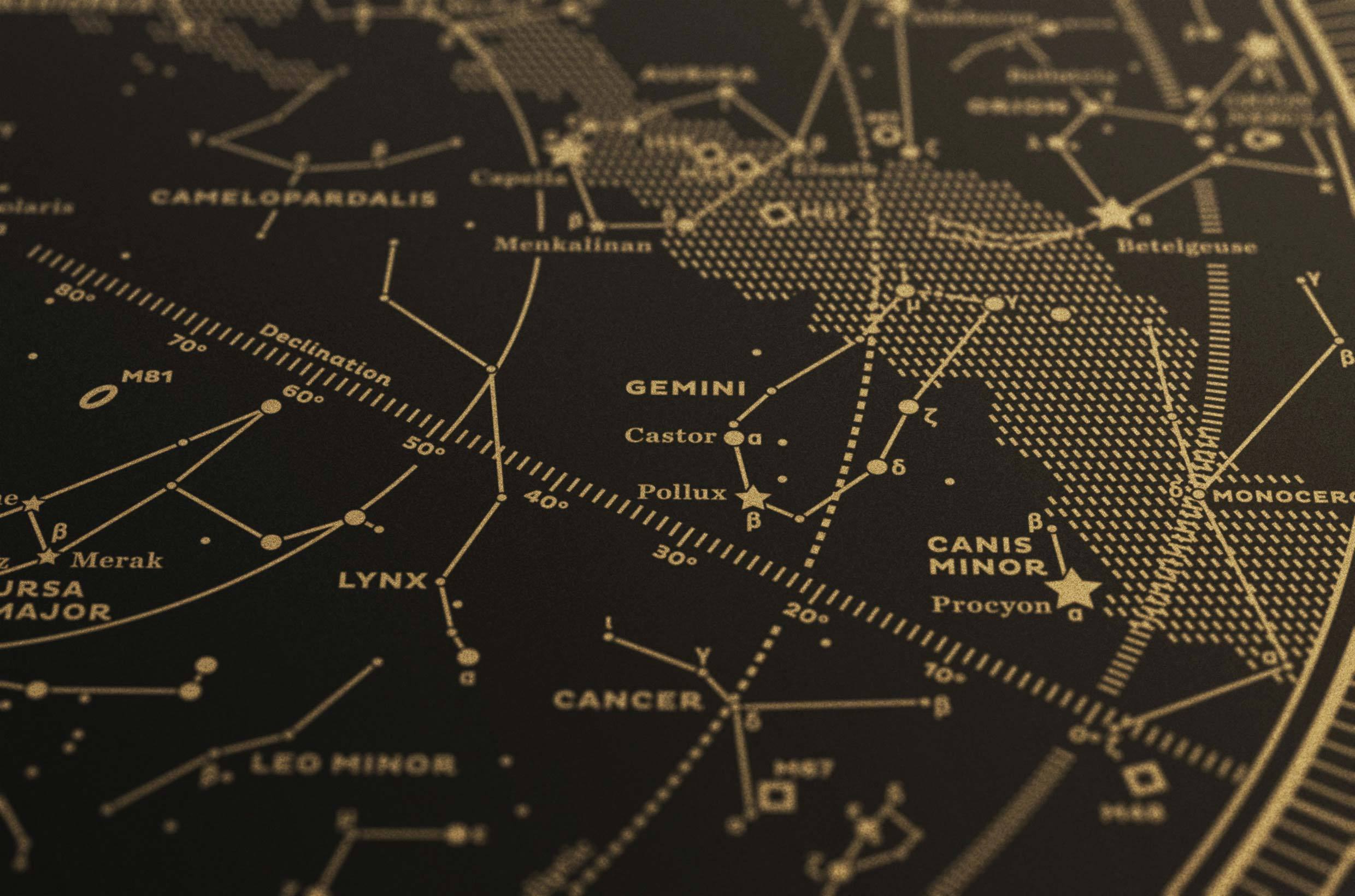 Map I — The Northern Sky (Gold/Black) Map I on open shortest path first, domain name system, post office protocol,