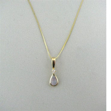 image of Kabana 14k Gold Mother Of Pearl Diamond Necklace