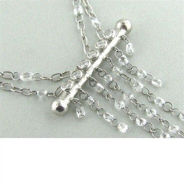 thumbnail image of New Gurhan Platinum Diamond Briolette Necklace
