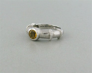 thumbnail image of Estate Judith Ripka Sterling Silver Canary Crystal Ring