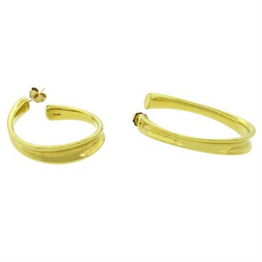 thumbnail image of Robert Lee Morris RLM 18k Gold Hoop Earrings