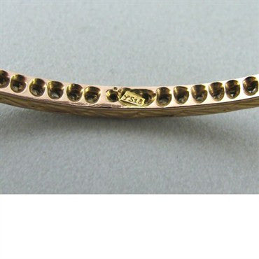 thumbnail image of Sethi Coture 18k Gold 2.25ct Diamond Bangle Bracelet