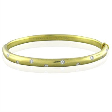image of Tiffany & Co 18K Gold Platinum Etoile Diamond Bangle Bracelet