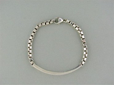thumbnail image of Tiffany & Co. Sterling Silver Venetian Link I.D. Bracelet