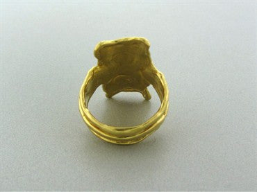 thumbnail image of Jean Mahie Modernist 22K Yellow Gold Ring