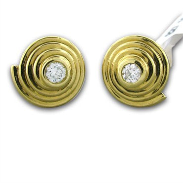 image of New Temple St Clair 18k Gold Diamond Stud Earrings