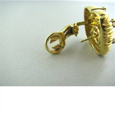 image of Vintage Tiffany & Co 18k Gold 1.26ct Diamond Earrings
