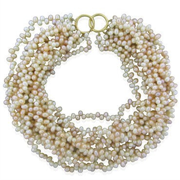 image of Tiffany & Co Paloma Picasso 18K Multi Strand Pearl Torsade Necklace