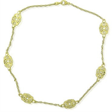 image of Judith Ripka 18K Yellow Gold Diamond Necklace