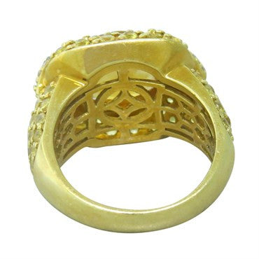 image of Sonia B 18k Gold Diamond Yellow Sapphire Citrine Ring