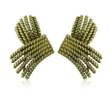 thumbnail image of Tiffany & Co Jean Schlumberger 18K Gold Rope Earrings