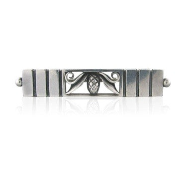 image of Estate Georg Jensen Sterling Brooch Pin Early Mark 218
