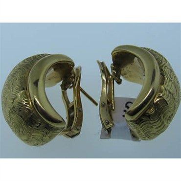 image of Estate Tiffany & Co Vintage 18K Gold Earrings