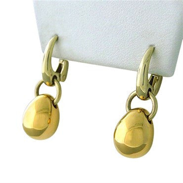 image of New Pomellato 18k Gold Drop Earrings