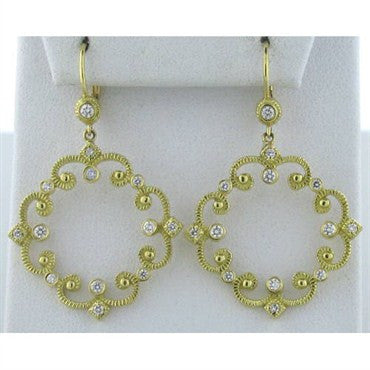 image of Penny Preville Imperial 18k Gold Diamond Earrings