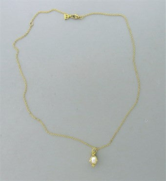 thumbnail image of Temple St. Clair 18k Gold Diamond Pearl Small Amulet Pendant Necklace