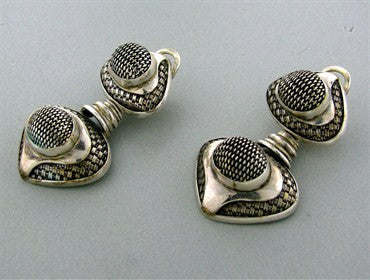 image of Estate John Hardy Sterling Silver Drop Earrings