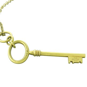 image of H. Stern 18K Gold Key Pendant Necklace