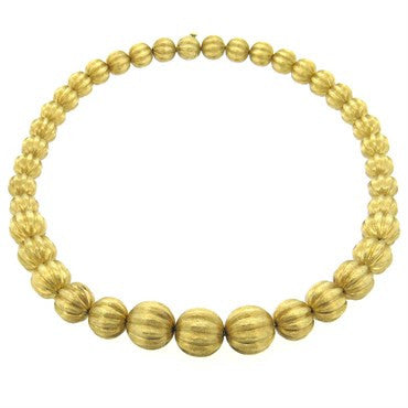 image of 960s Graduated 14k Gold Bead Necklace