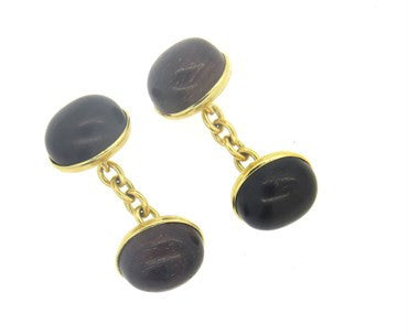 thumbnail image of Trianon Wood 18k Gold Cufflinks