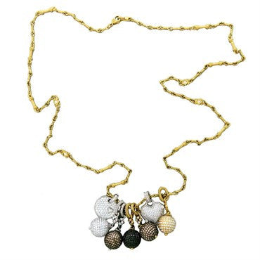 image of Judith Ripka Truffle Diamond Necklace