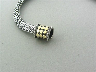 thumbnail image of John Hardy Dots Sterling Silver 18K Gold Woven Chain Necklace