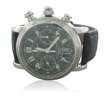 thumbnail image of Graham Flyback Chronograph Stainless Steel Mens Watch