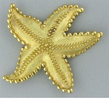 image of Large Estate Tiffany & Co 18k Gold Starfish Brooch Pin