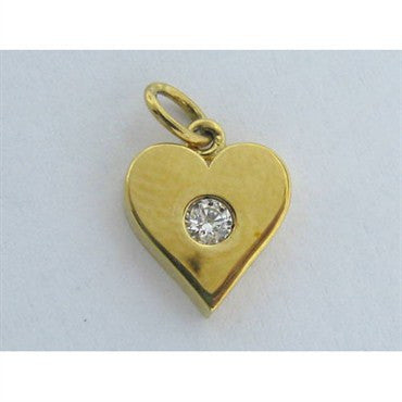 thumbnail image of Hearts On Fire 18k Gold 0.08ct Diamond Heart Charm