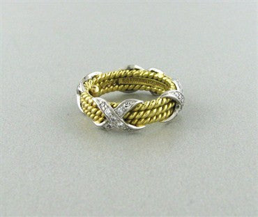 image of Tiffany & Co Schlumberger Rope Three Row Diamond Ring