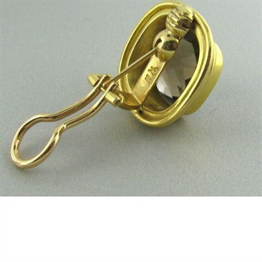 thumbnail image of Elizabeth Locke 19k Gold Smokey Topaz Earrings