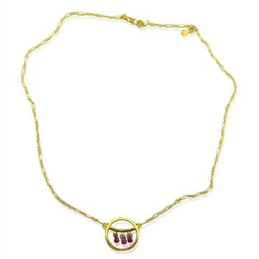 image of New Gurhan 24K Gold 0.80ctw Ruby Necklace